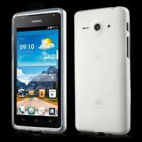 Double matný gélový obal na mobil Huawei Ascend Y530 - biely