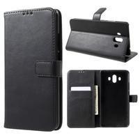 StyleRetro PU kožené knižkové puzdro na Huawei Mate 10 - čierne