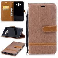 Jeany PU  kožené/textilné puzdro na Huawei Mate 10 - béžové