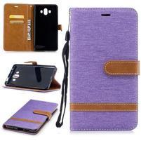 Jeany PU  kožené/textilné puzdro na Huawei Mate 10 - fialové