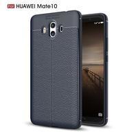 Litchi gélový obal na Huawei Mate 10 - tmavomodrý