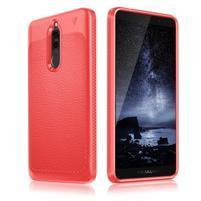 IVS odolný gélový obal s textúrou na Huawei Mate 10 Lite - červený