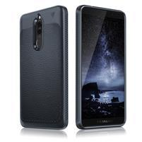 IVS odolný gélový obal s textúrou na Huawei Mate 10 Lite - tmavomodrý