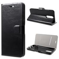 Horse PU kožené zapínacie puzdro na Huawei Mate 10 Lite - čierne