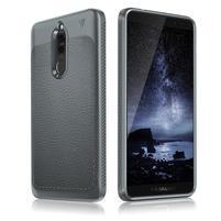 IVS odolný gélový obal s textúrou na Huawei Mate 10 Lite - sivý