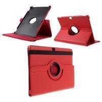 Rotate PU kožené puzdro s polohovaním na Huawei MediaPad M2 10.0 - červené