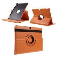 Rotate PU kožené puzdro s polohovaním na Huawei MediaPad M2 10.0 - oranžové