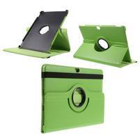 Rotate PU kožené puzdro s polohovaním na Huawei MediaPad M2 10.0 - zelené