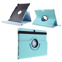 Rotate PU kožené puzdro s polohovaním na Huawei MediaPad M2 10.0 - modré