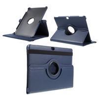 Rotate PU kožené puzdro s polohovaním na Huawei MediaPad M2 10.0 - tmavo modré