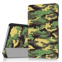 Pattern knižkové zapínacie puzdro na Huawei MediaPad M3 8.4 - kamufláž
