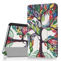 Pattern knižkové zapínacie puzdro na Huawei MediaPad M3 8.4 - maľovaný strom