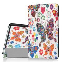 Pattern knižkové zapínacie puzdro na Huawei MediaPad M3 8.4 - motýliky