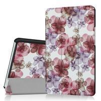 Pattern knižkové zapínacie puzdro na Huawei MediaPad M3 8.4 - kvetiny