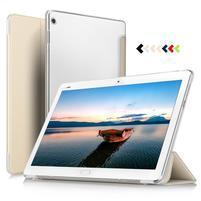 Trojpolohové klopové puzdro na Huawei MediaPad M3 Lite 10 - zlaté