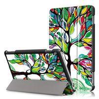 Emotive polohovatelné puzdro pre Huawei MediaPad M3 Lite 10 - malovaný strom