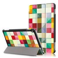 Emotive polohovatelné puzdro pre Huawei MediaPad M3 Lite 10 - barevné čtverečky