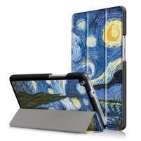 Emotive polohovatelné puzdro pre Huawei MediaPad M3 Lite 8.0 - malovaná noc