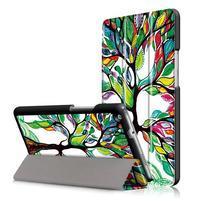 Emotive polohovatelné puzdro pre Huawei MediaPad M3 Lite 8.0 - malovaný strom