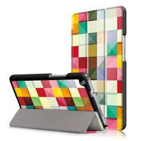 Emotive polohovatelné puzdro pre Huawei MediaPad M3 Lite 8.0 - barevné čtverečky