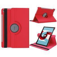 Litchi PU kožené puzdro na Huawei MediaPad M5 10 - červené