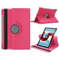 Litchi PU kožené puzdro na Huawei MediaPad M5 10 - rose