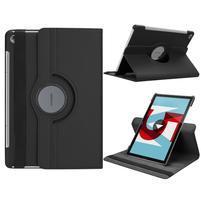Litchi PU kožené puzdro na Huawei MediaPad M5 10 - čierne