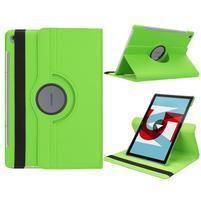 Litchi PU kožené puzdro na Huawei MediaPad M5 10 - zelené