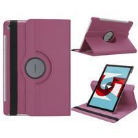 Litchi PU kožené puzdro na Huawei MediaPad M5 10 - fialové