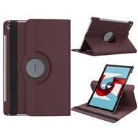 Litchi PU kožené puzdro na Huawei MediaPad M5 10 - hnedé