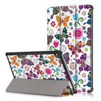 Emotive PU kožené puzdro na Huawei MediaPad M5 10 - motýliky