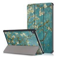 Emotive PU kožené puzdro na Huawei MediaPad M5 10 - kvitnúce vetvy