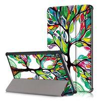 Emotive PU kožené puzdro na Huawei MediaPad M5 10 - farebný strom