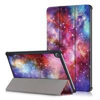 Emotive PU kožené puzdro na Huawei MediaPad M5 10 - galaxia