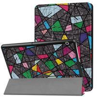Patty PU kožené zapínacie puzdro na Huawei MediaPad T3 10- abstrakt