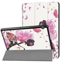 Patty PU kožené zapínacie puzdro na Huawei MediaPad T3 10 - víla