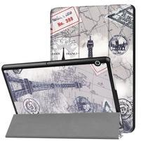 Patty PU kožené zapínacie puzdro na Huawei MediaPad T3 10 - Eiffelova věž