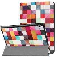 Patty PU kožené zapínacie puzdro na Huawei MediaPad T3 10 - kostičky