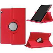 Otočné PU kožené puzdro na Huawei MediaPad T3 10- červené