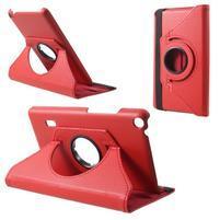 Rotate PU kožené puzdro na tablet Huawei MediaPad T3 7.0 - červené