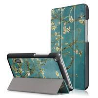 Patty PU kožené puzdro na tablet Huawei MediaPad T3 7.0 - rozkvitnuté vetvičky