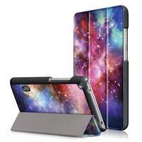 Patty PU kožené puzdro na tablet Huawei MediaPad T3 7.0 - vesmír