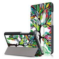 Patty PU kožené puzdro na tablet Huawei MediaPad T3 7.0 - maľovaný strom