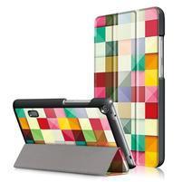Patty PU kožené puzdro na tablet Huawei MediaPad T3 7.0 - kocky