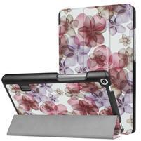 Printy PU kožené puzdro na tablet Huawei MediaPad T3 7.0 - kvety