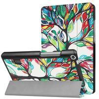 Printy PU kožené puzdro na tablet Huawei MediaPad T3 7.0 - maľovaný strom