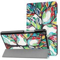 Emotive PU kožené puzdro pre Huawei MediaPad T3 8.0 - malovaný strom