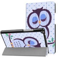 Emotive PU kožené puzdro pre Huawei MediaPad T3 8.0 - sovička
