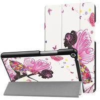 Emotive PU kožené puzdro pre Huawei MediaPad T3 8.0 - motýľí víla