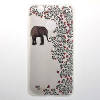 Transparent gélový obal s motivem na Huawei Nova - slon